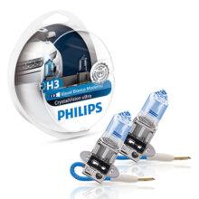 لامپ هالوژن گازی H3 مدل کریستال ویژن – فیلیپس