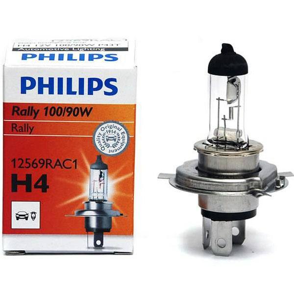 تصویر لامپ هالوژن گازی H4 مدل رالی ویژن – فیلیپس