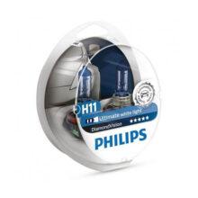 لامپ هالوژن گازی پایه H11 مدل ۱۲۳۶۲ دیاموند ویژن – فیلیپس
