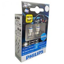 لامپ LED فیلیپس T10 پایه آریایی ۸۰۰۰K – W5W